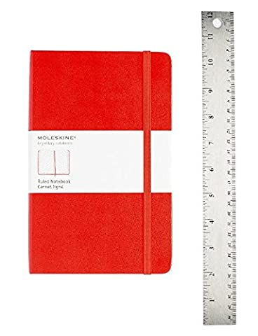 Moleskine Classic Notebook, Large, Ruled, Red, Hard Cover (5 x 8.25) (Classic (Notebook Rigida)