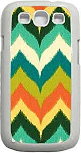 Bold Wavy Chevrons- Case for the Samsung Galaxy S3 i9300 -Hard White Plastic Case