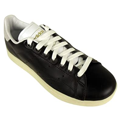 finest selection c9333 2193e Mens Adidas Originals Stan Smith Vintage Lace Leather Black Trainers Size UK  9