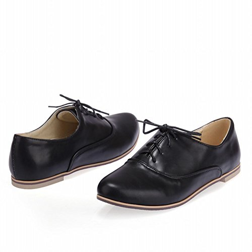 Carol Shoes Comfort Womens Lace-up Sweet Fashion Casual Carino Appartamenti Oxford Scarpe Nere