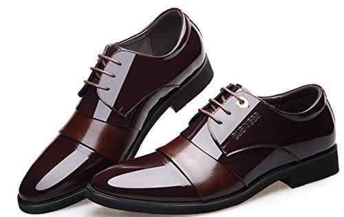 Business Farbe Leder Wies 2018 Hochzeitsschuhe Kleid Männer Brown Shiney Britische qncRE47vRw