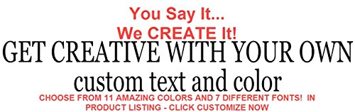 Removable Custom Decals - Personalized Stickers - CREATE YOUR OWN Personalized Custom Quote Wall Decals or Lyrics Wall Decal - High Quality Vinyl Material - 100% Satisfaction Guaranteed or Money Back! (Wall Decals Lyrics)
