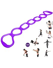 7 Ring Stretch Resistance Exercise Band - Miracle Miles Band, Yoga Stretching, Arm, Shoulders Foot, Leg Butt Fitness Home Gym Physical Therapy Band
