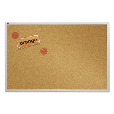 (Natural Cork Bulletin Board, 96 x 48, Anodized Aluminum Frame, Sold as 1 Each)