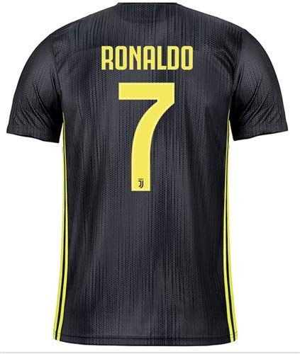3e63c8091a4 GOLDEN FASHION Non Branded Juventus Third KIT with Ronaldo Print 2018 19  ONLY Jersey (