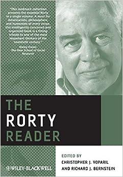 Amazoncom The Rorty Reader 9781405198325 Richard Rorty