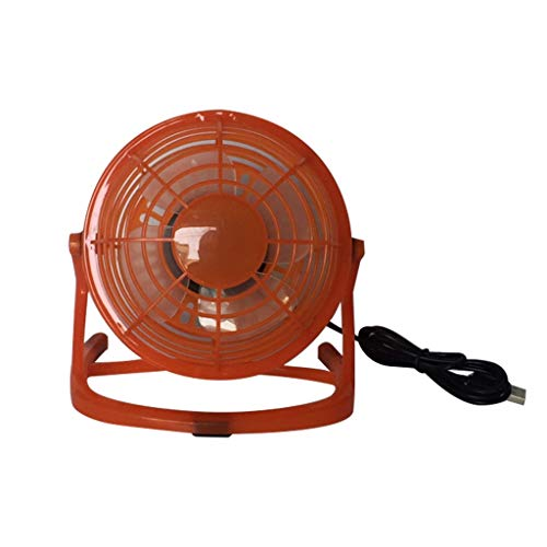 Qingell Portable USB Fan- Quiet and Powerful, Perfect Office Fan USB Personal Fan for Home & Office in Hot Summer Days Orange Discount Portable Massage Table