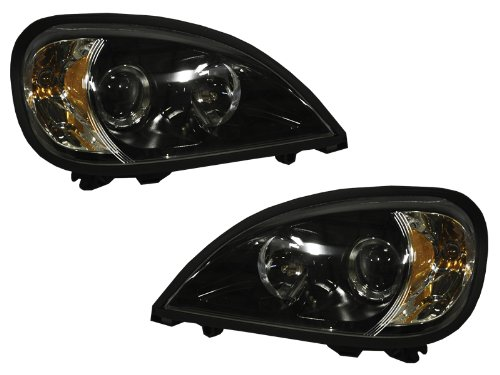 FRONT HEADLIGHT Freightliner Columbia S HL ASY PROJECTOR BLK SET