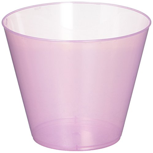 Amscan Pretty Big Party Pack Pink Plastic Cups Tumblers, Pearl Pink