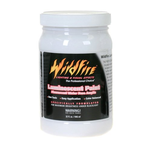Wildfire Invisible Blue Black Light Paint, 32 Ounce Bottle