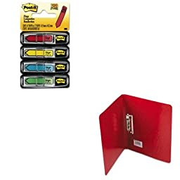 KITACC42529MMM684SH - Value Kit - Acco PRESSTEX Grip Punchless Binder With Spring-Action Clamp (ACC42529) and Post-it Arrow Message 1/2amp;quot; Flags (MMM684SH)