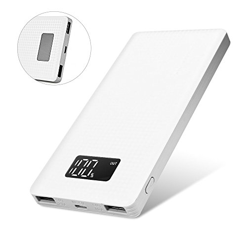 Power Bank, PINENG 10000mAh- Dual USB Output Portable External Power bank Battery Charger Pack With LED Digital Display for iPhone 6S / 6S Plus / 7 /7 Plus , Samsung, HTC, Blackberry etc.
