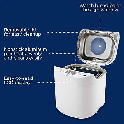 Oster CKSTBRTW20 Expressbake Breadmaker, 2-lb. Loaf Capacity, 2 lb White