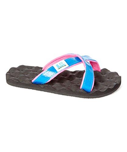 Landfill Dzine Eco-Friendly Pink and Blue Slip on Sandal Flip Flop 9 M US - 1/2' Platform Shoe