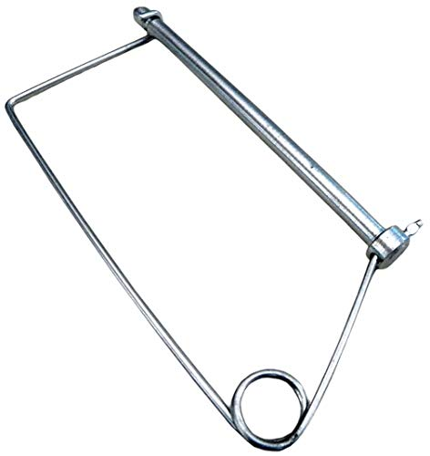 """Fabory Steel Coiled Tension Snap Safety Pin, Zinc Finish, 5/16"""" Pin Dia. 5VU79-1 Each from FABORY"""