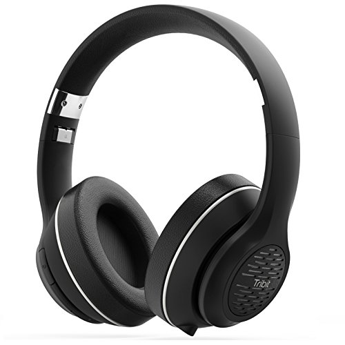 Bluetooth Headphones Over Ear, Tribit XFree Tune HiFi Wireless Headphones with Rich Bass, 24 Hours Playtime, 2X40mm Drivers, Bluetooth 4.1 CSR Chips, 3.5mm Aux Support, Black