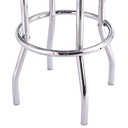 COSTWAY 29u0027u0027 Bar Stools Flame Round Padded Seat Retro Nostalgic Style Backless Chair Barstool  sc 1 st  High Plains Cultural Center & COSTWAY 29u0027u0027 Bar Stools Flame Round Padded Seat Retro Nostalgic ...