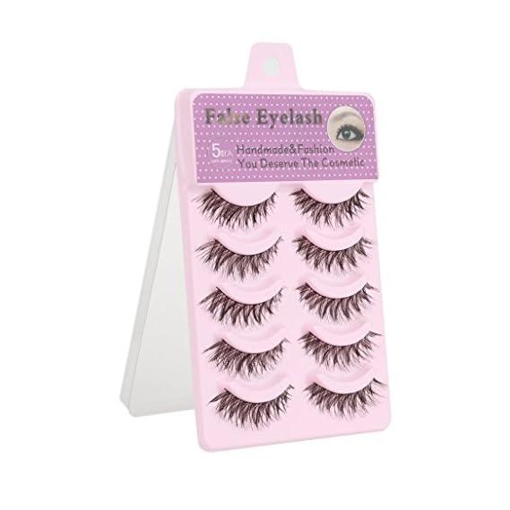 Ditya 5 Pairs Cotton Stalk Natural Long False Eyelashes