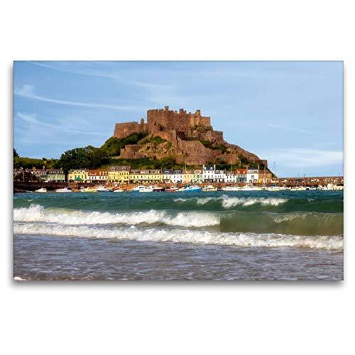 Premium Textil de lienzo 45cm x 30cm Horizontal Mont Orgueil Castle–Jersey, 120 x 80 cm por Joana Kruse