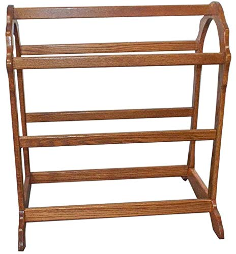 Allamishfurniture Amish Hardwood Modern Two Quilts Rack Waterfall Floor UNASSEMBLED (Michaels Cherry Finish)