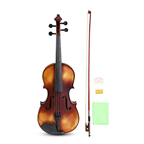 16inch Viola, Handcrafted Spruce Viola Solid Wood Acoustic Viola with Case, Bow, Bridge and Rosin Accessory for Beginners