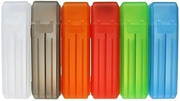 6 unidades KOSBON 6,35 cm SSD disco duro caja de almacenaje para disco de estado sólido, colores surtidos (plástico): Amazon.es: Electrónica