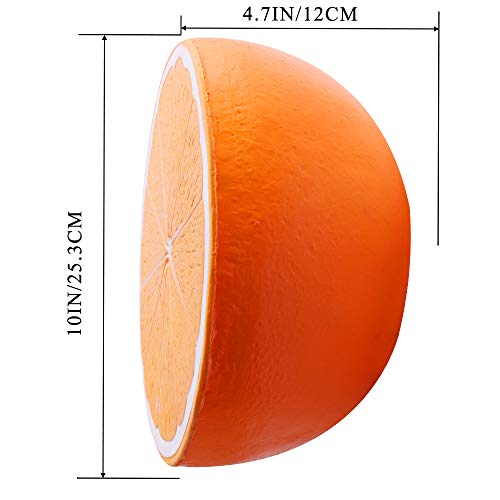 Outee 10 Inch Jumbo Orange Squishy Big Slow Rising Orange Squishies Scented Kawaii Stress Relief Squishy Squeeze Toys for Kids Adults by Outee (Image #3)