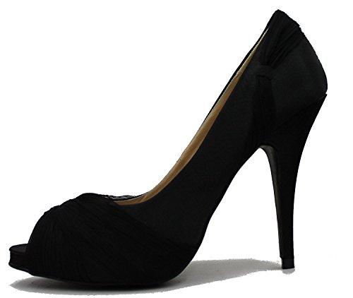 Bonnibel Sandalo Donna In Raso Con Tacco A Spillo E Tacco A Spillo Nero Con Tacco A Spillo