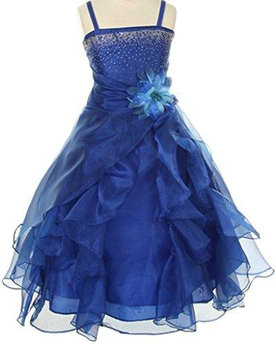 Buy flower girl dresses with midnight blue sash - 3