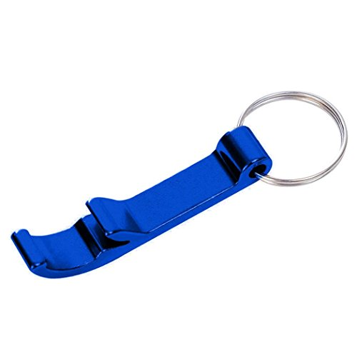 Keychain Beverage - DENER Key Chain Beer Bottle Opener Claw Bar Small Beverage Keychain Ring (Blue)