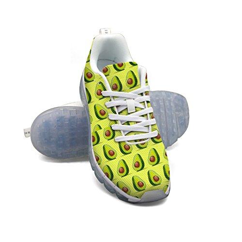 Faaerd Avocado Gentagne Mænds Åndbar Mesh Walking Sneakers Luft Pude Sportssko Åndbar Atletisk Løbesko jyABIy