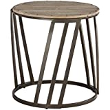 Ashley Furniture Signature Design - Fathenzen Casual Round End Table - Two-Tone