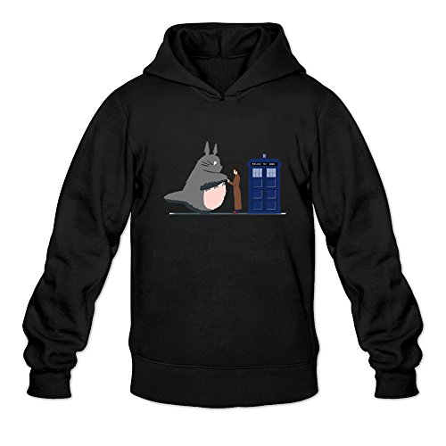 Mens Totoro And Doctor Who Police Box Custom 100% Cotton Size S Color Black Hoddies By Mjensen (Ninja Turtles Who Is Who)