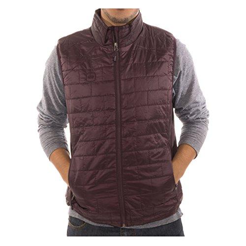 Altatac Men's Puffer Quilted Water Repellent Full Zipper Packable Vest Jacket Coat - Purple - X-Large by Altatac