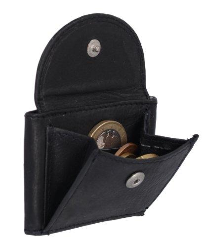 Extra kleine Minibörse LEAS in Echt-Leder, schwarz - ''LEAS Mini-Edition''