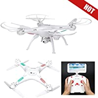 Hoshell Drone RC Quadcopter Altitude Hold Headless LiDiRC L15W RTF 360 Degree FPV VIDEO WIFI HD Camera 6 axis 4CH 2.4Ghz Height Hold Easy Fly Steady for learning,White