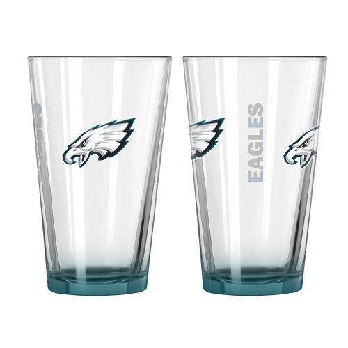 Boelter Brands NFL Philadelphia Eagles Elite Pint Glass, 16-Ounce, 2-Pack