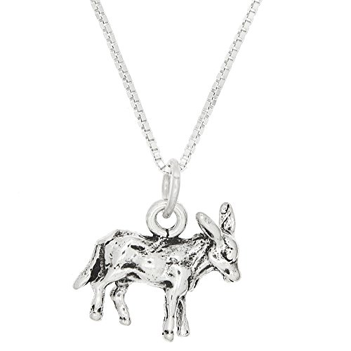 Donkey NecklaceSterling Silver3 Dimensional Necklace(20 Inches)