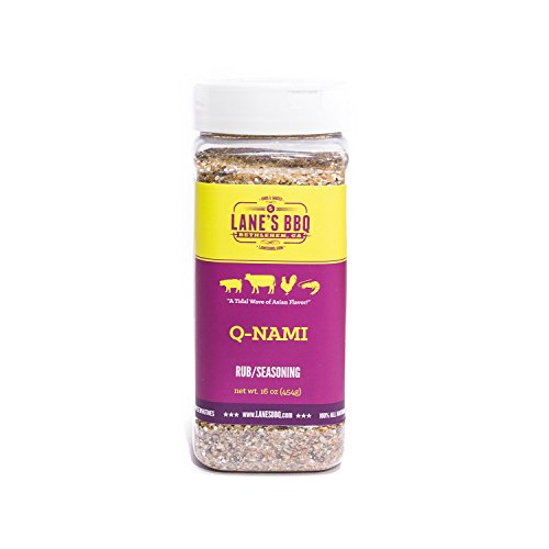 Lane's BBQ Q-NAMI Rub Seasoning, All Natural, Gluten Free, No MSG or Preservatives, 16 oz