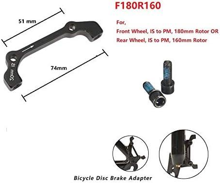 Bike Disc Brake Caliper Mount Adapter Front 160//180 Rear 140//160 CR@M