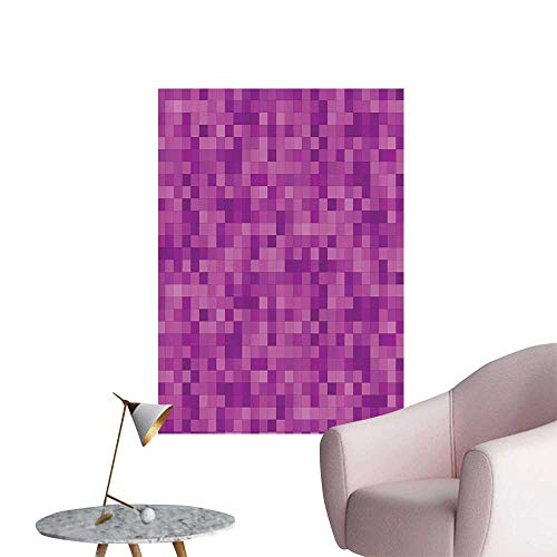 Mosaic Coco Stick - Vinyl Artwork Fractal Square Mosaic Brick Block gal Pixel Ctrast Ctemporary Easy to Peel Easy to Stick,12