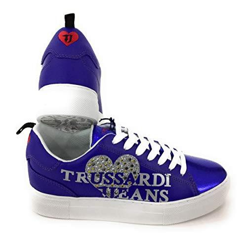 Bluette Sneakers 79a00234 Jeans Donna Trussardi xRXEqTwx