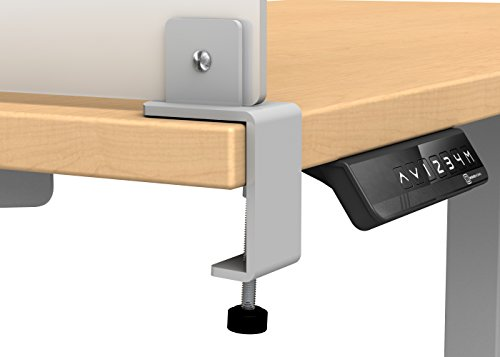 Acrylic Clamp on Privacy Desk Divider Size: 12'' H x 23'' W by VaRoom (Image #2)