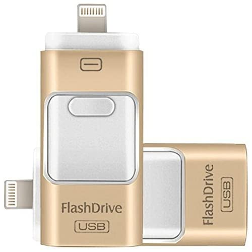 128GB iPhone USB Flash Drive, Pen-Drive Memory Storage, Jump Drive Lightening Memory Stick External Storage Expansion for Apple iOS Android Computers