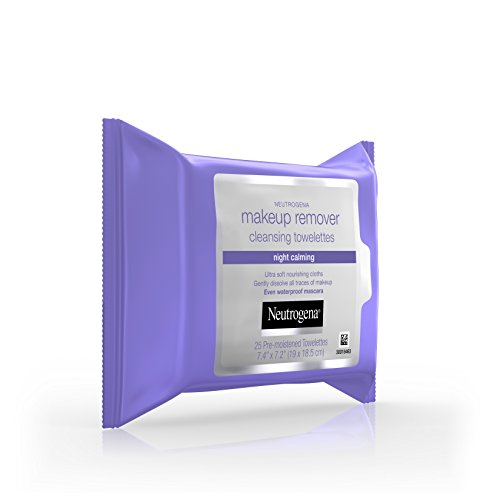 41MoQczy9yL Neutrogena Makeup Remover Cleansing Towelettes & Wipes, Night Calming, 25 Count (Pack of 6)