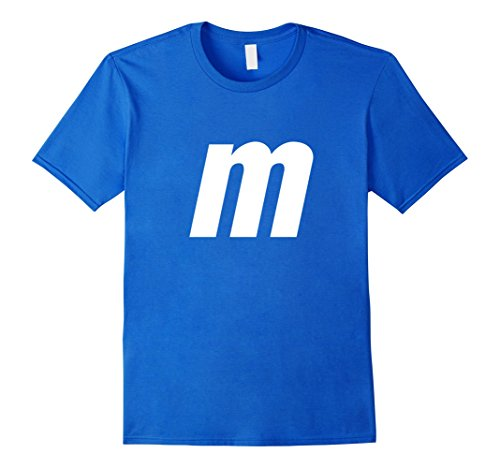 Cotton Candy Halloween Costumes (Mens M Letter Halloween Candy Costume T-shirt Large Royal Blue)