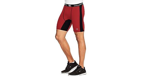Champion Mens Power Flex Solid Compression Shorts 6-inch/_Navy/_2XL