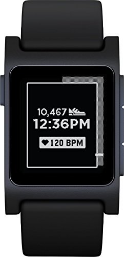 Pebble Smartwatch for iOS and Android – White/White