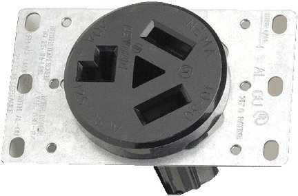 Leviton 30a Flush (Leviton 800-05207-00K Dryer Receptacle 30 Amp 125/250V Flush Mount Black)