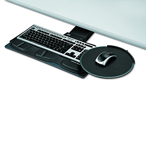 Lock Keyboard Tray System - Fellowes Professional Series Sit/Stand Keyboard Tray, Black (8029801)